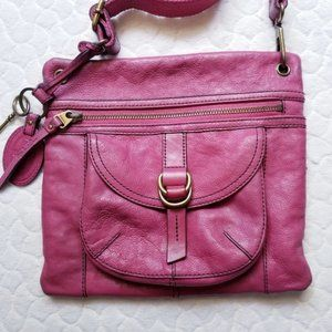 Fossil Raspberry Crossbody Purse